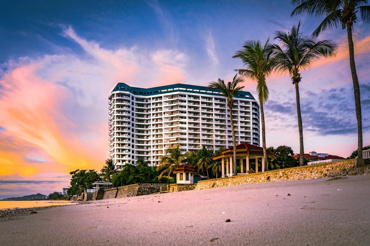 large beach hotel