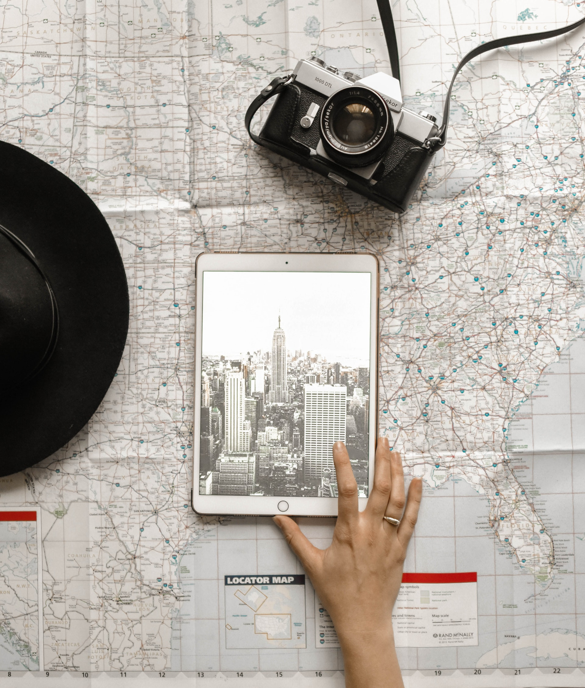 travel map camera