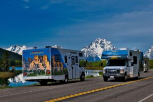 cruise america rv rental front and back